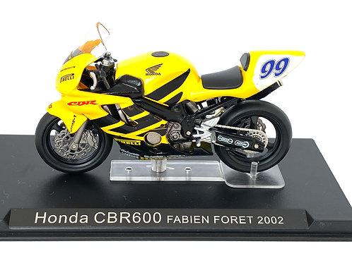 1:24 scale Altaya De Agostini Honda CBR 600 World Supersport Bike - F Foret 2002