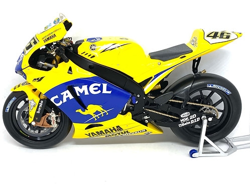 1:12 scale Minichamps Yamaha YZR M1 Moto GP Bike - V Rossi 2006 Full Camel Logos