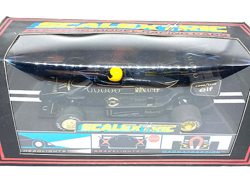 Vintage JPS Lotus 98T F1 Scalextric Slot Car, Scalextric C425 Ayrton Senna Car