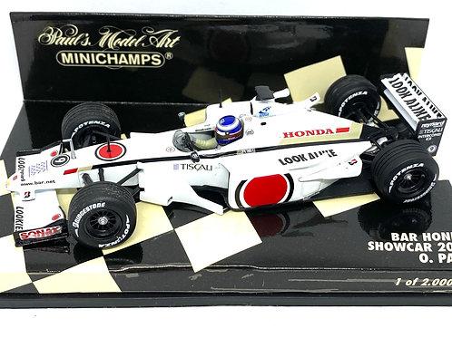 Limited Edition 1:43 scale Minichamps BAR Honda 2001 F1 Showcar - O Panis Model