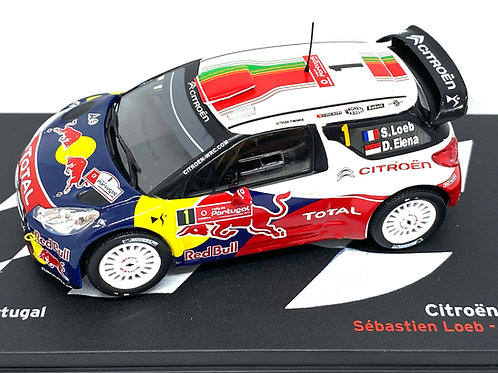 1:43 Scale Altaya Citroen DS3 WRC Rally Car - S Loeb Rally Portugal 2011 Model