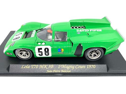 1:32 scale Fly Lola T70 Mk 3B Slot Car J P Beltoise Magny Cours 1970 Slot Car
