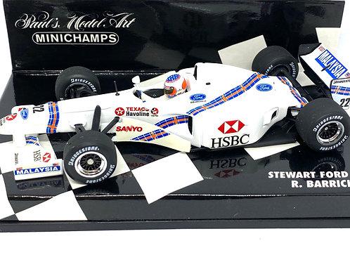 1:43 scale Minichamps Stewart Ford SF1 F1 Car - Rubens Barrichello 1997 F1 Car