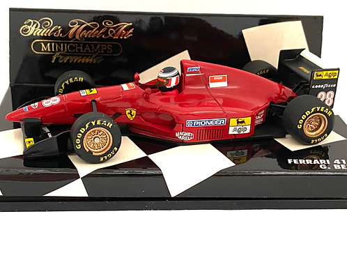 1:43 scale Minichamps Ferrari 412 T1 Formula 1 Car - Gerhard Berger 1994 Model