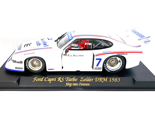 1:32 scale Fly Slot Car Ford Capri RS Turbo DRM Group 5 Model - J Van Ommen 1983