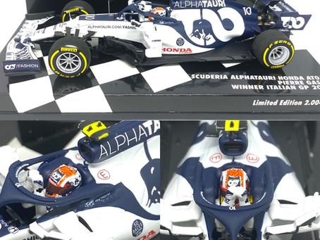 1/43 Minichamps Alphatauri AT01 - P Gasly Monza GP Winner