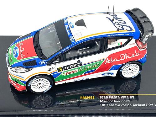 1:43 Scale IXO Ford Fiesta WRC Rally Car - Marco Simoncelli Model Test Car 2011