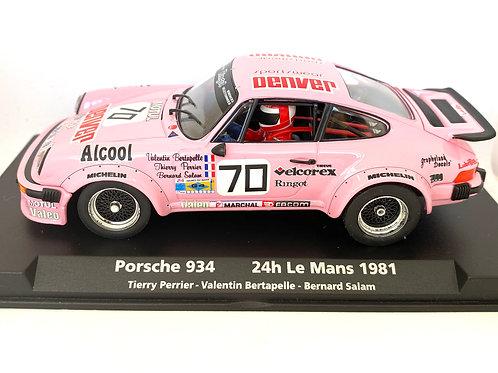 Rare 1:32 scale Fly Slot Car Porsche 934 Le Mans Race Car - T Perrier 1981