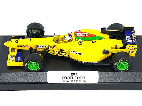 1:43 scale Boxed Onyx Forti Ford F1 Car - Luca Badoer 1996 Diecast Model F1 Car