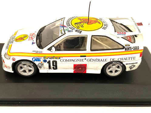 1:43 Scale Minichamps Ford Escort RS Cosworth Rally Car - Monte Carlo Rally 1994