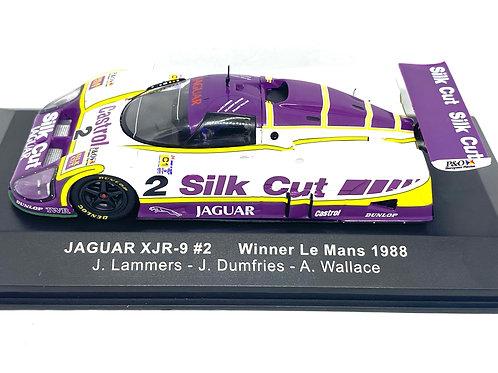 1:43 scale IXO Silk Cut Jaguar XJR9 Le Mans Race Car, Lammers, Dumfries, Wallace