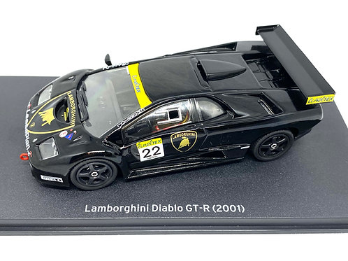 1:43 scale Altaya Lamborghini Diablo GT-R Sports Car, 2001 GT Race Car Model