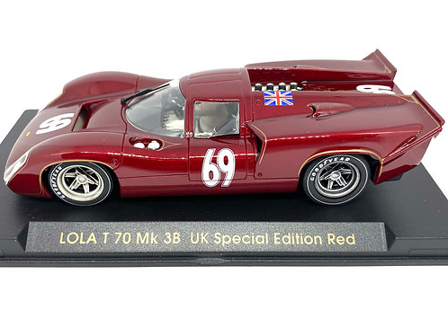 1:32 scale Fly Lola T70 Mk 3B Slot Car UK Special Edition Version - ref S31