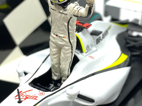 1/43 scale Minichamps Diecast Brawn GP 001 - Jenson Button Australia 2009