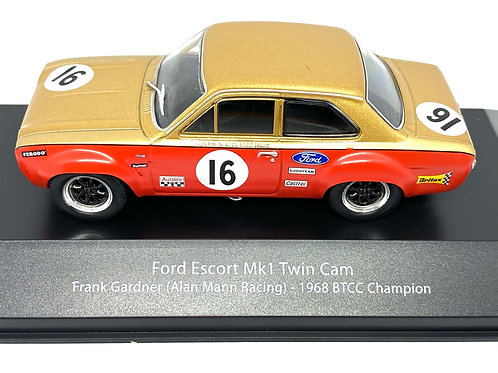 1:43 scale Atlas Editions Ford Escort Mk 1 Touring Car driven by Frank Gardner