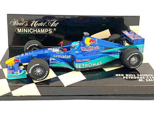 1:43 scale Minichamps Red Bull Sauber C19 F1 Car - Mika Salo 2000 F1 Model