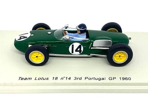 Rare 1/43 scale Spark Lotus 18 F1 Car - Jim Clark 1960 Diecast Model Race Car
