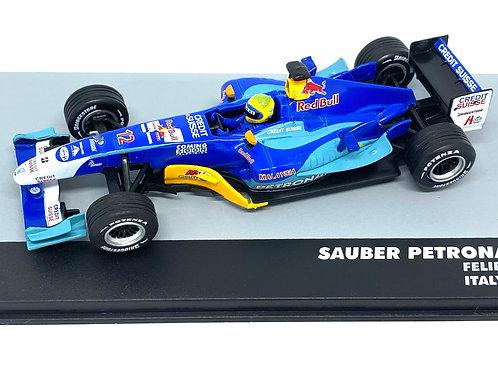 1:43 Scale Sauber C23 F1 Diecast Model - Felipe Massa 2004 Grand Prix Diecast