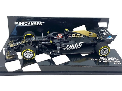 1:43 scale Minichamps Haas F1 VF-19 F1 Car - Kevin Magnussen 2019 Diecast Model