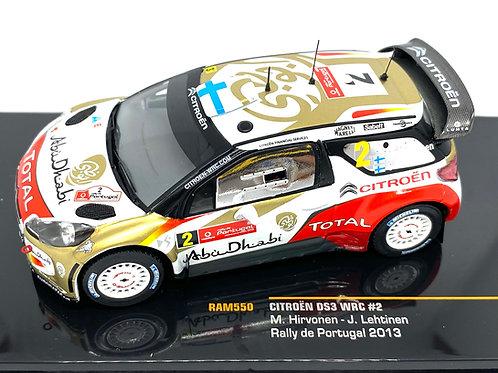 1:43 Scale IXO Citroen DS3 WRC Rally Car - M Hirvonen Portugal Rally 2013 Model