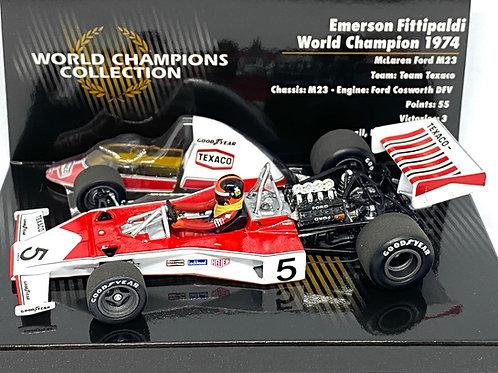 1:43 scale Minichamps McLaren M23 F1 Car - E Fittipaldi 1974 World Champion Ed.