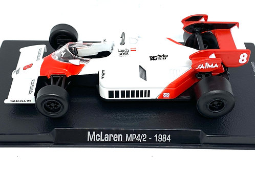 1:43 Scale McLaren MP4/2 F1 Diecast Model - Niki Lauda 1984 Diecast Model F1 Car