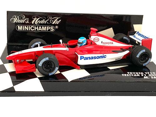 1:43 scale Minichamps Toyota TF101 Formula One Test Car Model - Mika Salo 2001
