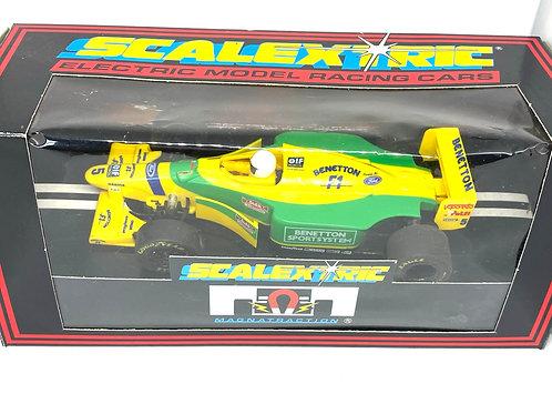 Vintage Boxed Benetton B193 Scalextric Slot Car, Scalextric C142 Model Slot Car