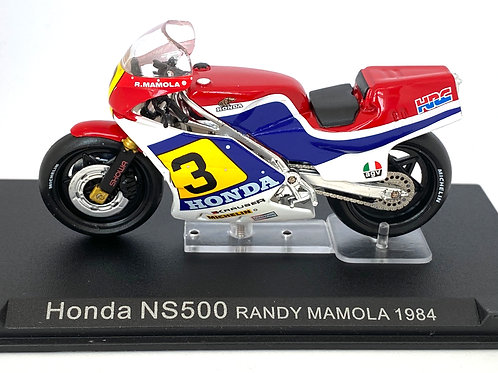 1:24 scale De Agostini / Altaya Honda NS 500 GP Bike - Randy Mamola 1984