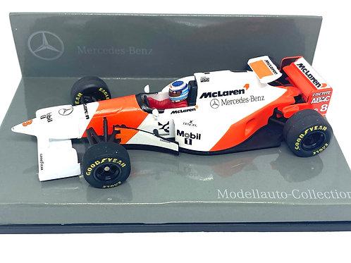 1:43 scale Minichamps McLaren Mercedes MP4/10 F1 Car - Mika Hakkinen 1995 Model