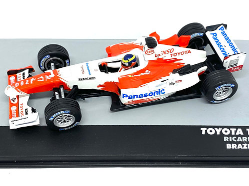 1:43 Scale Toyota TF 104B F1 Diecast Model - Ricardo Zonta 2004 Grand Prix Car