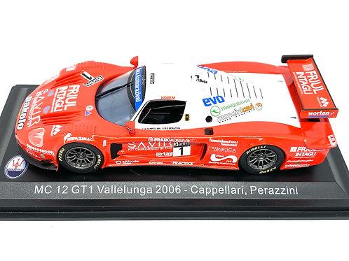 1:43 scale Altaya Maserati MC12 GT1 Sports Car - Cappellari & Perazzini 2006 Car