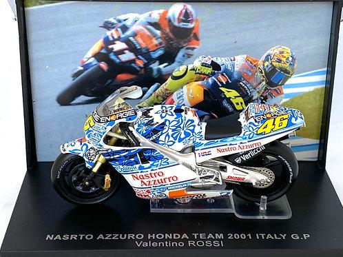 1:24 scale IXO Honda NSR 500 GP Bike - Valentino Rossi 2001 Mugello Grand Prix