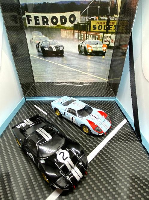 1:43 scale CMR Classic Model Replicars Ford GT40 2 Car Box Set Le Mans 1966