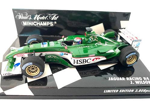 1:43 scale Minichamps Jaguar Racing R4 Formula One Model - Justin Wilson 2003