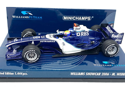 Ltd Ed 1:43 scale Minichamps Williams F1 Showcar Mark Webber 2006 Diecast Model
