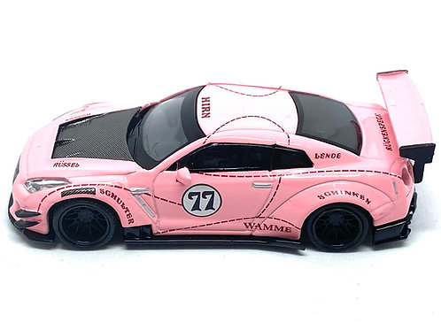 1:64 scale TSM Mini GT Model Nissan GT-R R35 Pink Pig Diecast Model Race Car