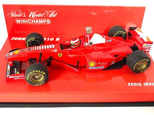 1:43 scale Minichamps Ferrari F310B Formula 1 Car - Eddie Irvine 1997 Model Car
