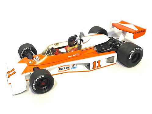 1:18 scale Minichamps McLaren M23 F1 Car James Hunt 1976 Diecast Model Race Car