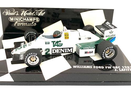 1:43 scale Minichamps Williams FW08C F1 Car - J Lafitte 1983 Diecast Toy Model