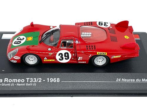 1:43 scale Altaya Alfa Romeo T33/2 Sports Car I Giunti & N Galli 1968 Model