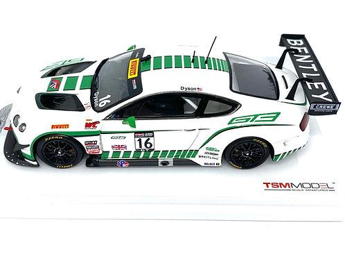 1:43 scale TSM Model Bentley GT3 Sports Car - C Dyson 2015 Diecast GT3 Race Car