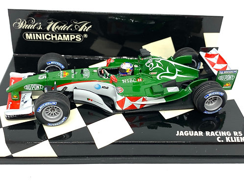 1:43 scale Minichamps Jaguar Racing R5 Formula One Model - C Klien 2004 Model
