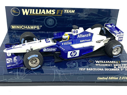 1:43 scale Minichamps Williams BMW FW24 F1 Test Car Nico Rosberg 2002 F1 Model