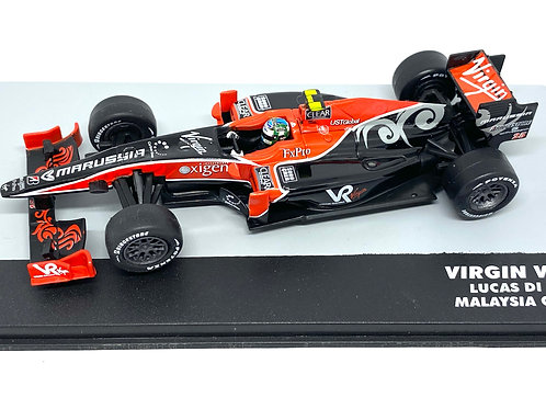 1:43 Scale Virgin VR-01 F1 Diecast Model - Lucas Di Grassi 2010 Grand Prix Car