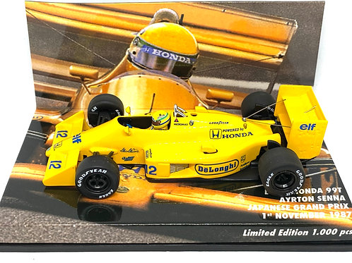 1:43 scale Minichamps Lotus 99T F1 Car Ayrton Senna Japanese Grand Prix 1987