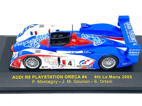 1:43 scale IXO Audi R8 Playstation Team Oreca - F Montagny Le Mans 2005 Model