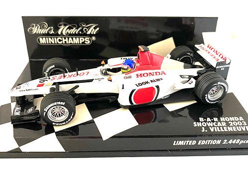 Limited Edition 1:43 scale Minichamps BAR Honda 2003 F1 Showcar - J Villeneuve