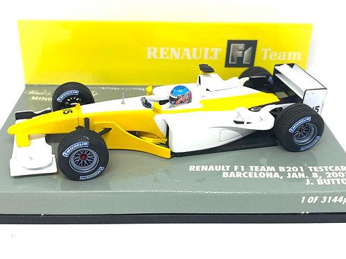 Ltd Edition 1:43 scale Minichamps Renault B201 Test Car  Jenson Button 2002 Car