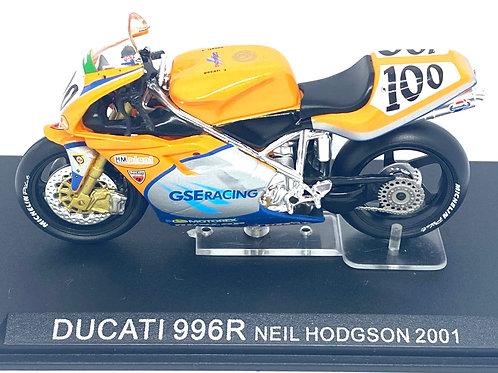 1:24 scale Altaya De Agostini Ducati 996R Superbike Model - Neil Hodgson 2001